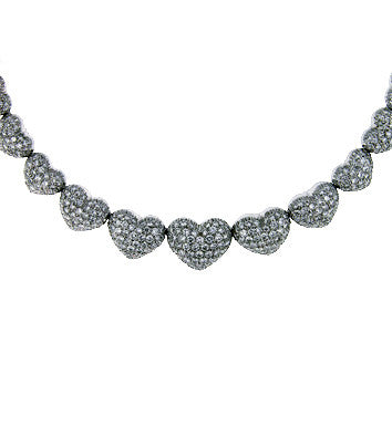 16 carat Diamond Heart Motif collar necklace