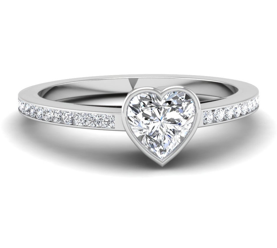 rings ring engagement halo products emmerson diamond moissanite bezel set