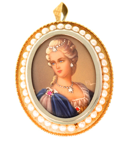14k Yellow Gold Cameo Pendant/Pin