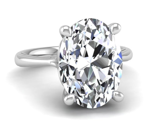 Oval Solitaire Ring Mounting