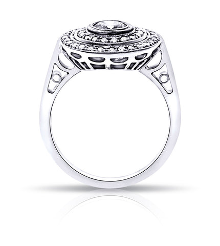 Art Deco Style Diamond Ring Custom Made to fit your diamond