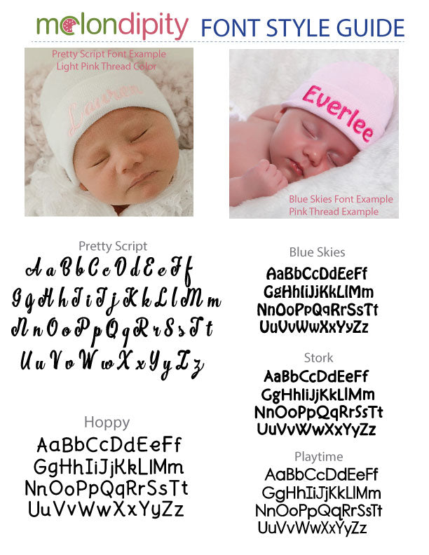 Personalized Solid White Personalized Newborn GIRL Hospital Hat
