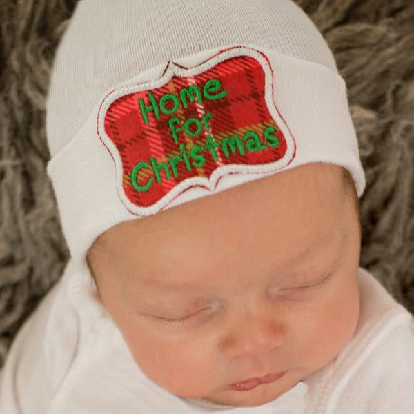 Home for Christmas Newborn Christmas Hospital Hat - Newborn Girl or Boy Christmas Hat