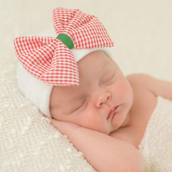 ilybean Merry Mary Newborn Girl's Christmas Hospital Hat - Newborn Girl Hat