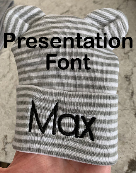 Personalized Newborn Boy Grey and White Striped Bow Tie Onesie Set