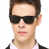 HD Polarized Occhiali da Sole Super Cool Polarizzati Unisex UV 400 Nero Oro Gold