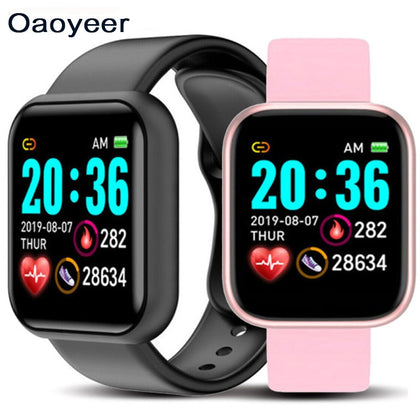 Y69 D21 Smart Watch Waterproof Bluetooth Blood Pressure Fitness Tracker Heart Rate Monitor Smartwatch For Apple IOS Android