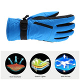 OUTAD Winter Outdoor Durable Soft Breathable Windproof & Waterproof Snow Ski Gloves Warm Mountain Climbing Gloves for Men