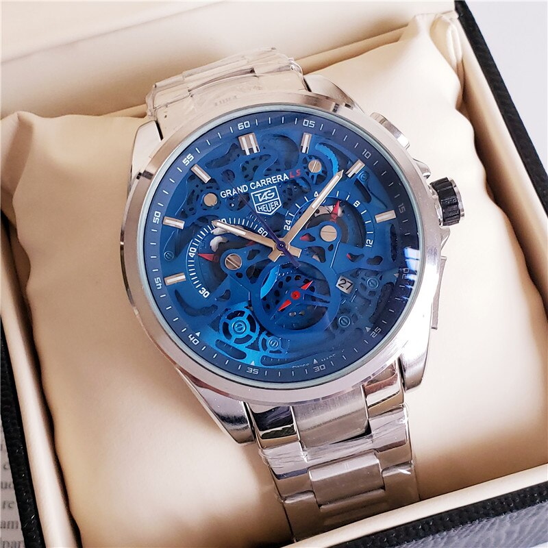 TAG- Heuer- quartz Mens Watches Quartz Watch Stainless Steel Strap men's wristwatch classic business dress men's watch