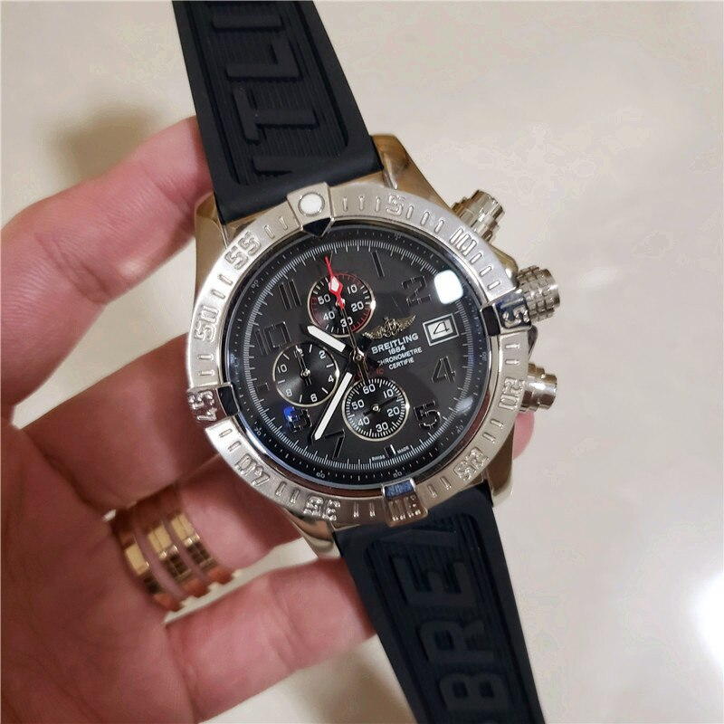 NEW Breitling- Luxury Brand Mechanical Wristwatch Mens Watches Quartz Watch with Stainless Steel Strap relojes hombre automatic