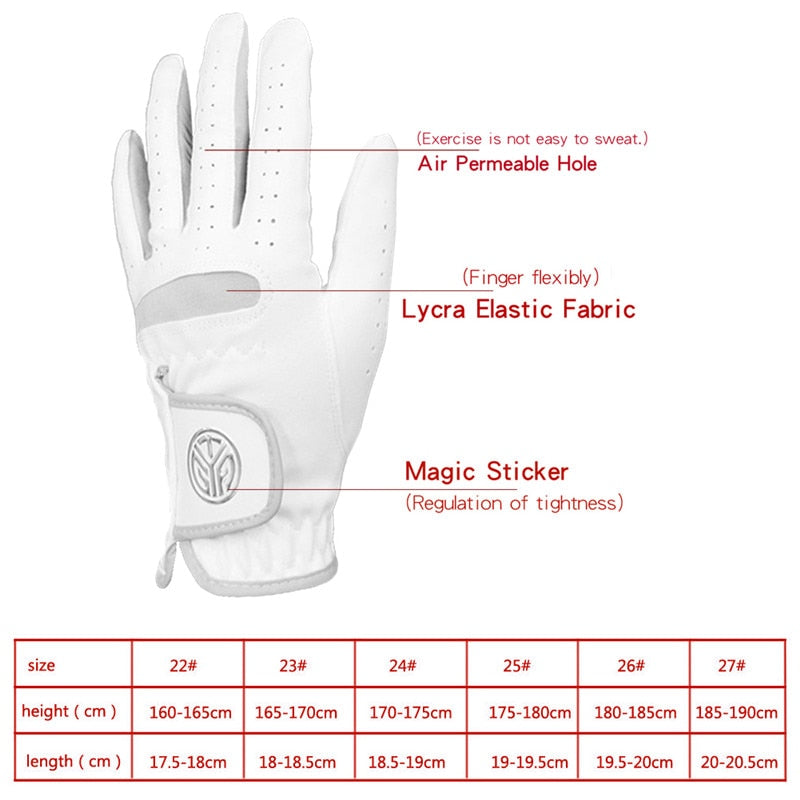 1 Pc Left Right Hand Golf Gloves Women Men's Soft Ultra-fiber Cloth Breathable Wear-resistant Golf Gloves Sports Gloves