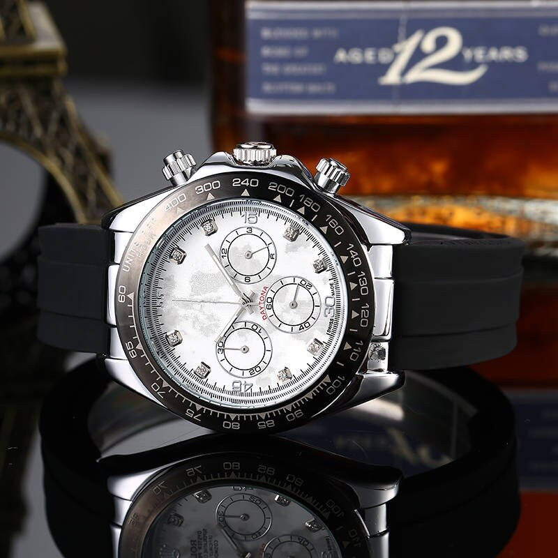 Luxury Men's Business Machine Ring Watch Men's Top Brand Watch Chronograph RLX AAA Daytona Stopwatch Fashion Gift Montre Homme