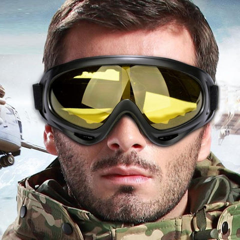 1pc Protective Очки Motorcycle Glasses Bike Cycling PC Eyewear Outdoor Sports Goggles Windproof Skiing Eyewear Glasses