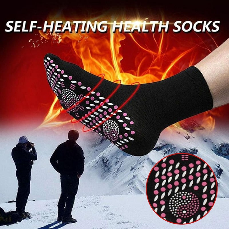 Self-heating Magnetic Socks for Women Men Self Heated Socks Tourmaline Magnetic Therapy Comfortable Winter Warm Massage Socks
