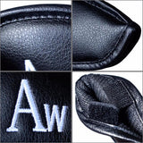 10/12 Pcs Deluxe Synthetic Leather Golf Iron Head Covers Club Headcover Waterproof for All Golf Iron Club
