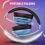 1000mAh battery wireless headset 20H Playtime Bluetooth Headphone Foldable LED Light 3D stereo gaming Earphone 6 equalizer modes
