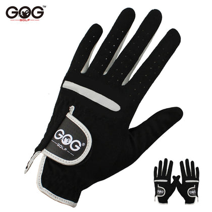 1 Pcs Men's Golf Glove Left Hand Right Hand Micro Soft Fiber Breathable Golf Gloves Men Color Black Brand GOG