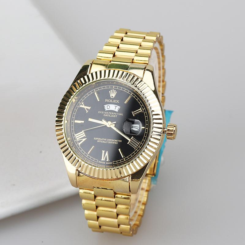 AAA+ quality Rolex- Oyster Perpetual Stainless Steel With Calendar Simple quartz  Watch women and Men's Casual Watches Gift26