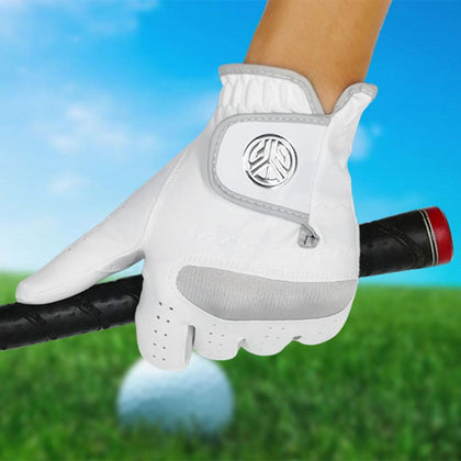 1 Pcs Men's Left Hand Golf Glove Right Hand Micro Soft Fiber Breathable Mens Golf Gloves White Color