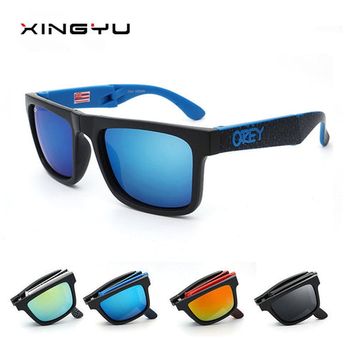 2020 Folding Sunglasses KEN BLOCK Men Brand Designer Sun glasses Reflective Coating Square Spied For Women Oculos Eyewear gafas