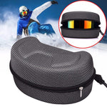Protection Snow Ski Eyewear Case Snowboard Skiing Goggles Sunglasses  EVA Carrying Case Zipper Hard Box