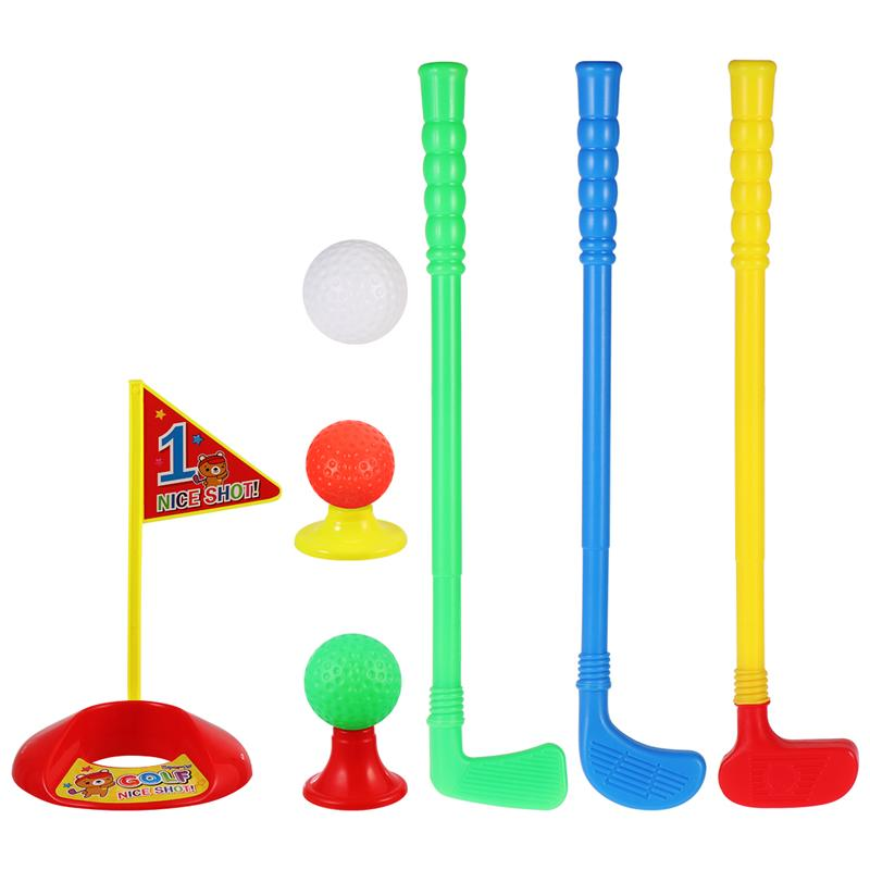 LIOOBO 1 Set Golf Club Suit Creative High-quality Outdoor ABS Golf Ball Kit Parent-child Toys for Kids Children