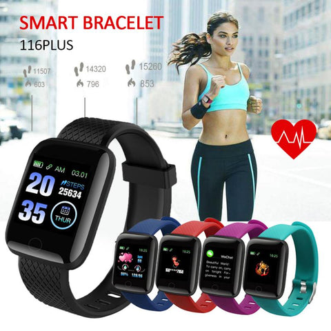 116Plus Smart Watch Digital Sports Smart Bracelet Men Women Heart Rate Watch Heart Rate Monitor IP67 Waterproof Smart Wristband