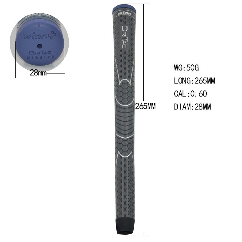 10 WINN DRITAC AVS MIDSIZE GRAY  GOLF GRIP. 5DT-BRD Free shipping