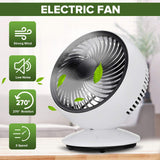 AUGIENB Portable Electric Fans Mini Desk Fans / USB Rechargeable / 3-Speed / 270° Automatic Rotation / Six-leaf / Disassemble