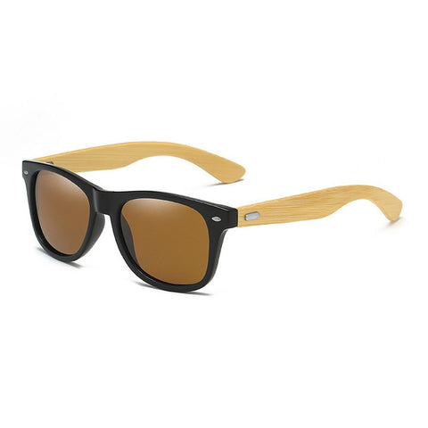 Classic Bamboo Wood Sunglasses Brand Design Men Women Coating Mirror Sun Glasses Fashion Sunglass Retro Glasses UV400 Shades