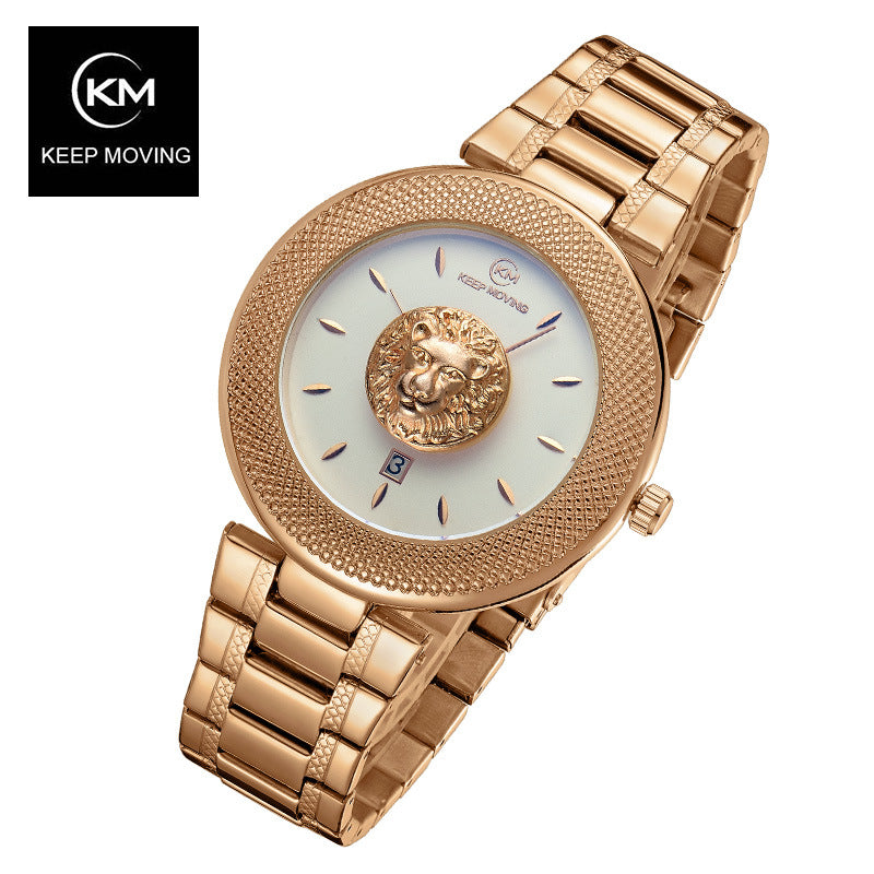 KEEP Moving Women Top Famous Brand Luxury Casual Quartz Watch Rose Gold Women Water  Stainless Steel Wrist Watches Relogio