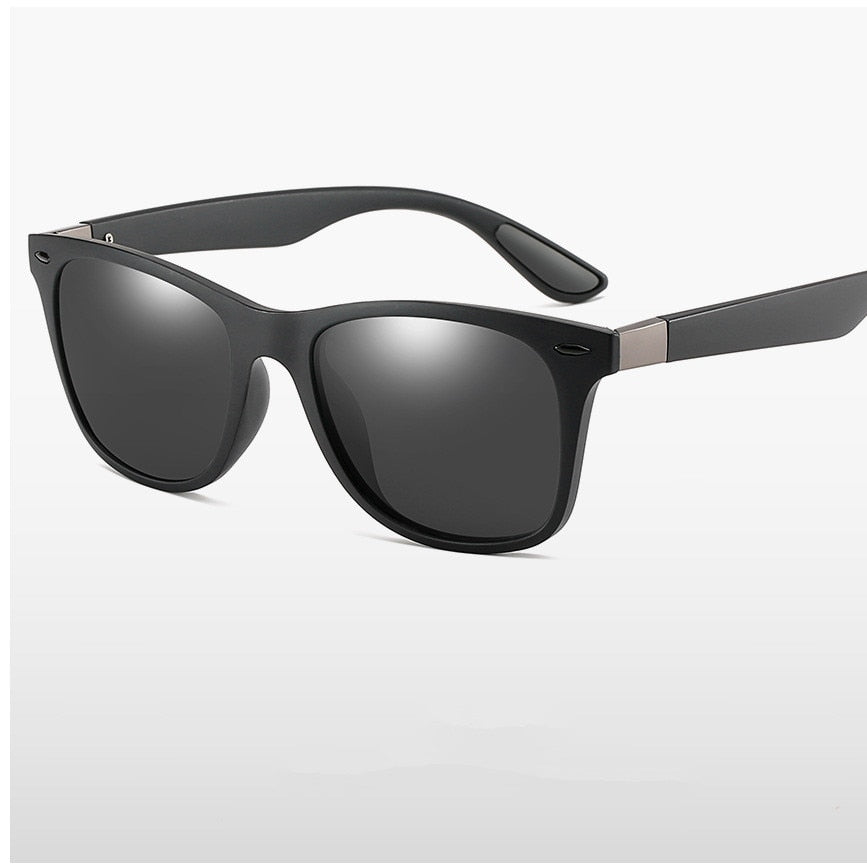 ZXWLYXGX Classic Polarized Sunglasses Men Women Brand Design Driving Square Frame Sun Glasses Male Goggle UV400 Gafas De Sol