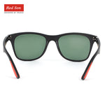 Red Son Classic Brand Design Polarized Sunglasses Men Women TR90 UV400 Sun Glasses Driving Style Square Frame Male Goggle