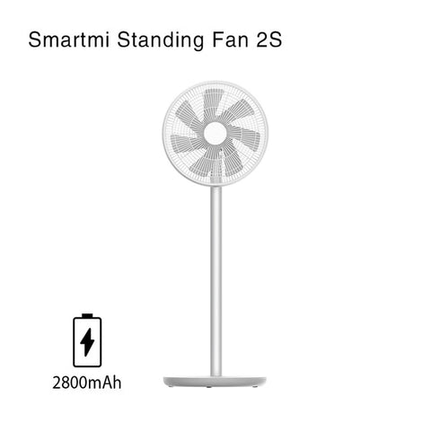 Xiaomi Mi Smartmi Floor Fan 2 2S Wireless Natural Wind Pedestal MIJIA APP Control DC Frequency Fan 20W2800mAh 100 Stepless Speed
