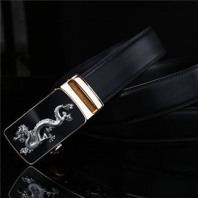 BrandNew Dragon Belt Men Luxury Famous Brand Waist Strap Male High Quality Genuine Leather Belt For Men Automatic Buckle