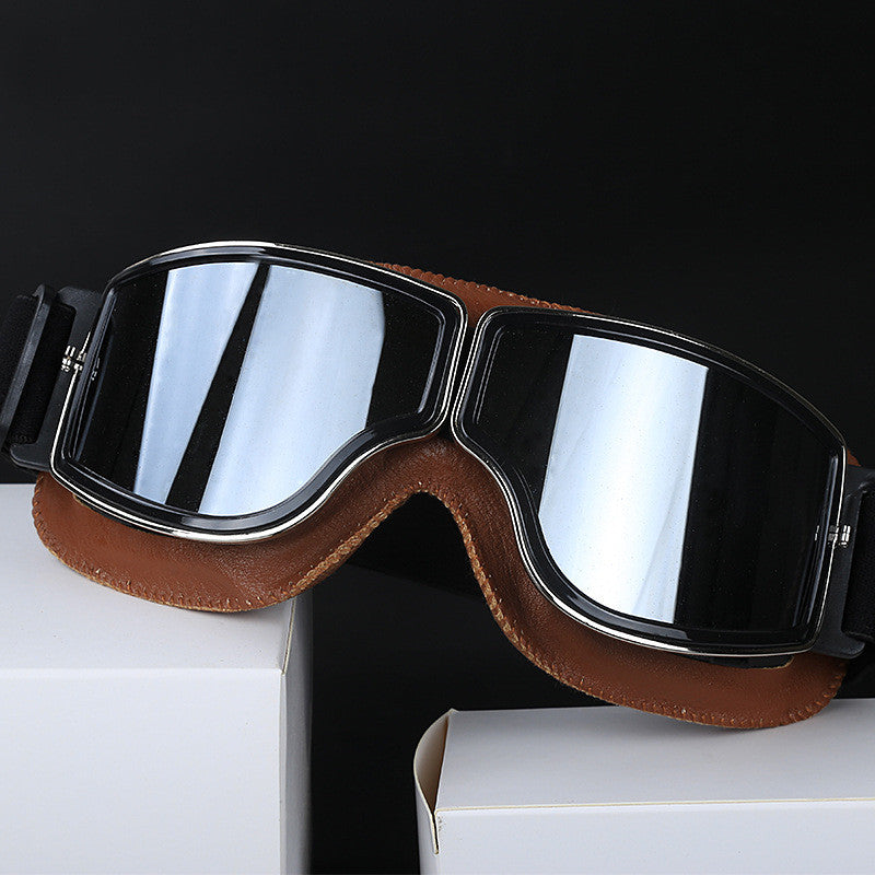 Universal Vintage Motorcycle Goggles Pilot Aviator Motorbike Scooter Biker Glasses Helmet Goggles Foldable For Harley