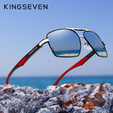 KINGSEVEN Aluminum Men's Sunglasse Polarized Lens Brand Red Design Temples Sun glasses Coating Mirror Glasses Oculos de sol 7719