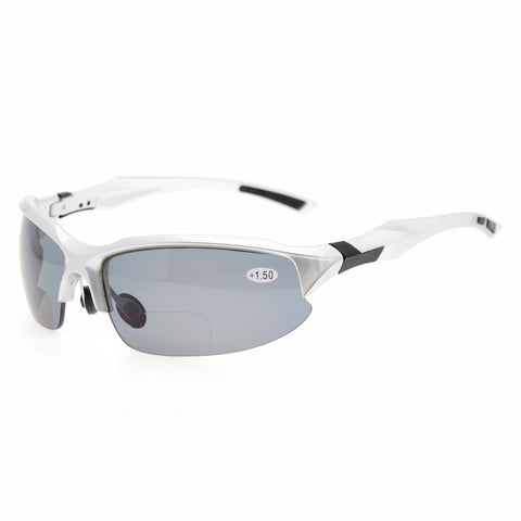TH6188 Bifocal Eyekepper TR90 Unbreakable Sports Sunglasses Bifocal Sunglasses Half-Rimless Reading Glasses