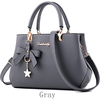 Yogodlns New 2019 Elegant Shoulder Bag Women Designer Luxury Handbags Women Bags Plum Bow Sweet Messenger Crossbody Bag