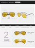 2018 Mens Polarized Night Driving Sunglasses Men Brand Designer Yellow Lens Night Vision Driving Glasses Goggles Reduce Glare
