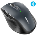 TeckNet Bluetooth Wireless Mouse Ergonomic 2.4GHz Computer Mice 3000/2000/1600/1200/800 DPI for Windows Laptop Notebook PC