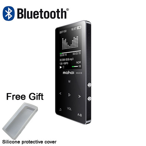 New metal bluetooth mp3 player 8gb built-in speaker fm radio e-book voice recorder portable audio sport flac music Video Player