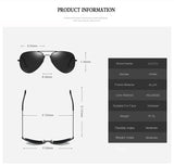 Aviation Polarized Sunglasses Men Classic Pilot Sun Glasses Driving Luxury Brand For Male Driver UV400