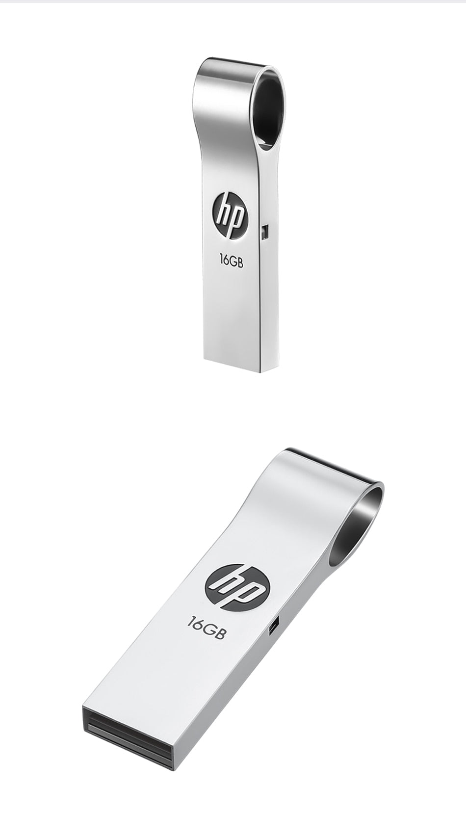 HP V285W Metal Key USB Flash Drive 8GB/16GB/32GB/64GB Waterproof Shockproof memoria usb pendrive memory USB stick for Laptop PC