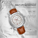 YAZOLE Men's Watch Waterproof Date Retro Quartz Wristwatch Mens Fashion Leather Strap Luxury Watch For Men New Relogio Masculino