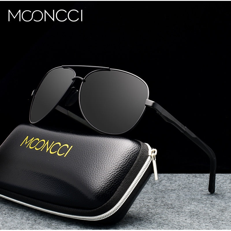 MOONCCI Classic Aviation Sun Glasses Men Polarized Sunglasses Male Brand Designer Pilot Mirror Glasses Lunette De Soleil Homme