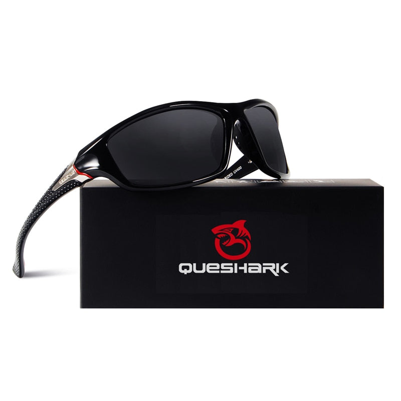 QUESHARK TR90 Untralight Frame HD Polarized Sunglasses Fishing Eyewear Cycling Glasses For Men Women Sport Hiking Running Golf