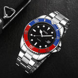 Mens Watches Top Brand Luxury Men Stainless Steel Band Calendar Business Waterproof Sports Quartz Wrist Watch reloj relogio 2019