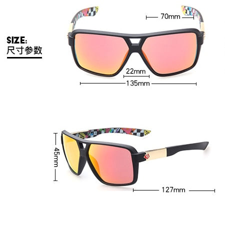 Fashion Square sunglasses men Classic Design polarized Gradient women Brand SARA Driving sun glasses oculos de sol uv400 Eyewear