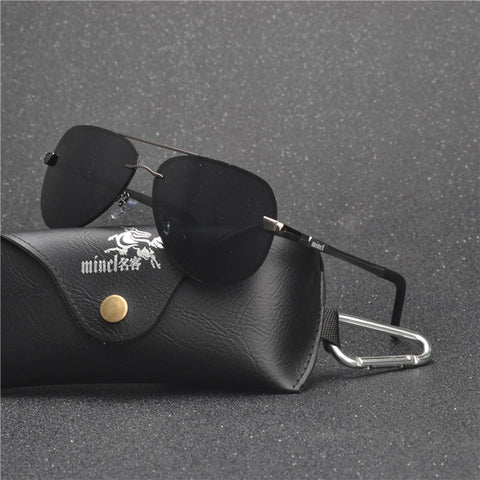 Fashion Polarized Sunglasses Men Classic Vintage Alloy Frame Sun glasses Coating Lens Driving Shades UV400 Protection FML